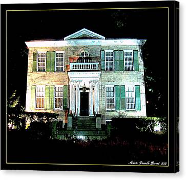 Whitehern Historic House And Garden Canvas Print by Danielle  Parent