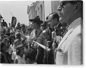 Whites Protesting The Court Ordered Canvas Print by Everett