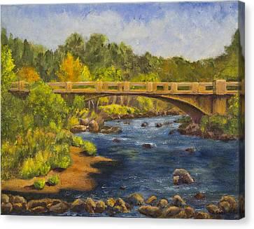 Whitney Crossing Canvas Print by Jo-Anne Gazo-McKim