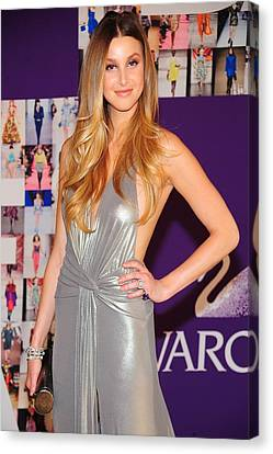 Whitney Port Wearing David Meister Canvas Print by Everett