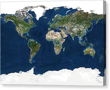 Whole Earth, Satellite Image Canvas Print by Planetobserver