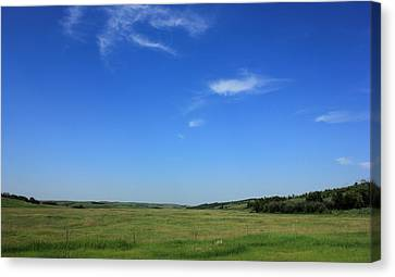 Wide Open Alberta Prairies Canvas Print by Jim Sauchyn