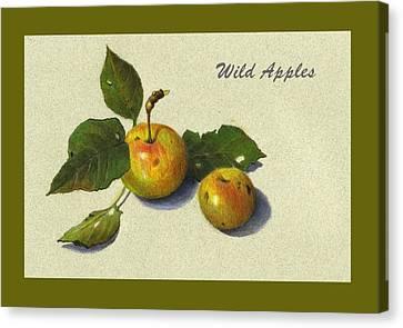 Wild Apples And Leaves Canvas Print by Joyce Geleynse