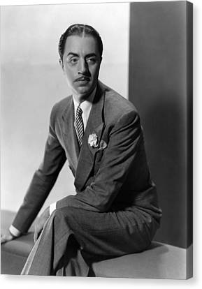 William Powell, Ca. 1930s Canvas Print by Everett
