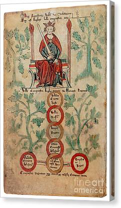 William The Conqueror Family Tree Canvas Print by Photo Researchers