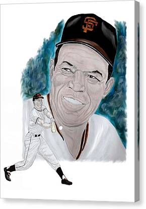 Willie Mays Canvas Print by Steve Ramer