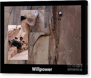 Willpower With Caption Canvas Print by Bob Christopher