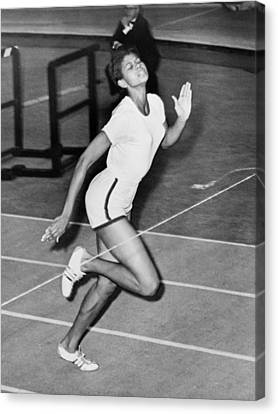 Wilma Rudolph Sets A World Record Canvas Print by Everett