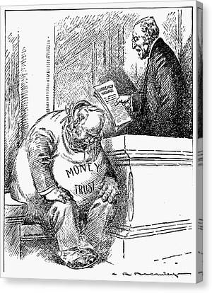 Wilson Cartoon, 1913 Canvas Print by Granger