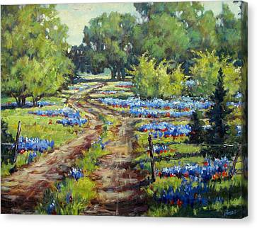 Wimberley's Bluebonnets Canvas Print by Vickie Fears