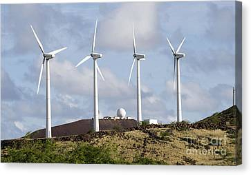 Wind Turbines At The Ascension Canvas Print by Stocktrek Images