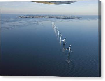 Wind Turbines Provide Energy Canvas Print by Andrew Henderson