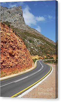 Winding Costal Road Between Gordon's Bay And Betty's Bay Canvas Print by Sami Sarkis