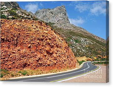 Winding Road Between Gordon's Bay And Betty's Bay Canvas Print by Sami Sarkis