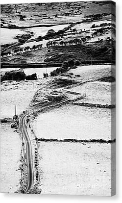 Winding Road Irish Countryside Canvas Print by Joe Fox