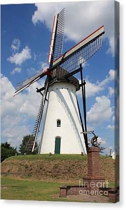 Windmill And Blue Sky Canvas Print by Carol Groenen