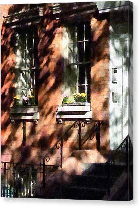 Window Boxes Greenwich Village Canvas Print by Susan Savad