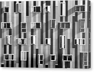 Window Facade Canvas Print by Gabriel Sanz (Glitch)