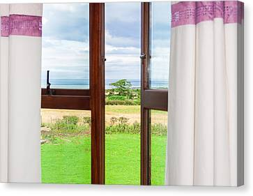 Window View Canvas Print by Semmick Photo