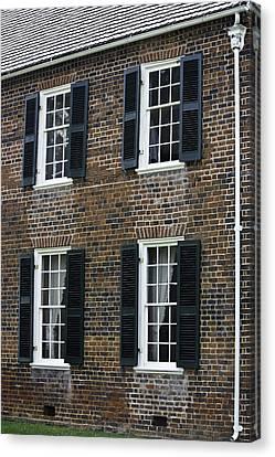 Windows At The Clover Hill Tavern Appomattox Virginia Canvas Print by Teresa Mucha