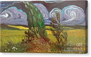 Windy Day Canvas Print by Anna Folkartanna Maciejewska-Dyba
