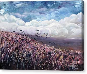 Windy Day Canvas Print by Caroline Street