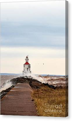 Windy Point Canvas Print by Whispering Feather Gallery