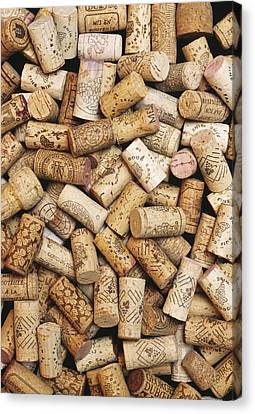 Wine Bottle Corks Canvas Print by Alan Sirulnikoff