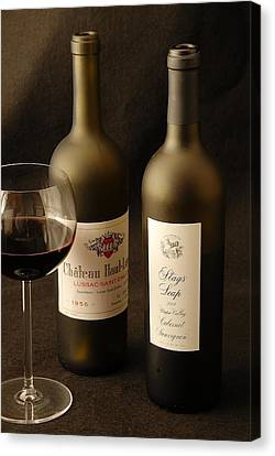 Wine Bottles Canvas Print by David Campione