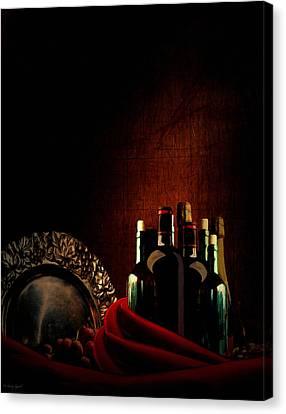 Wine Break Canvas Print by Lourry Legarde