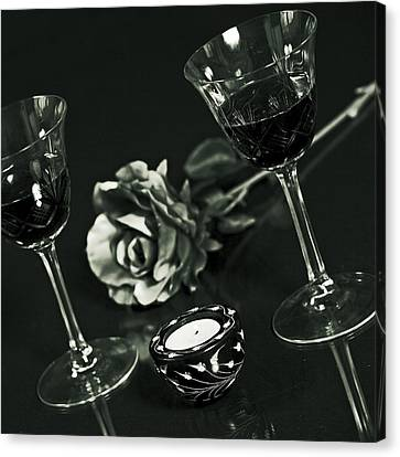 Wine For Two Canvas Print by Joana Kruse