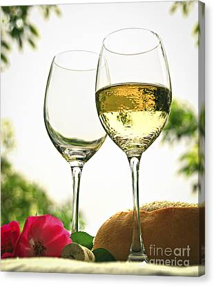 Wine Glasses Canvas Print by Elena Elisseeva