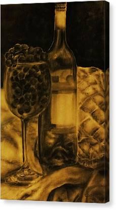 Wine Grapes Canvas Print by Tylir Wisdom