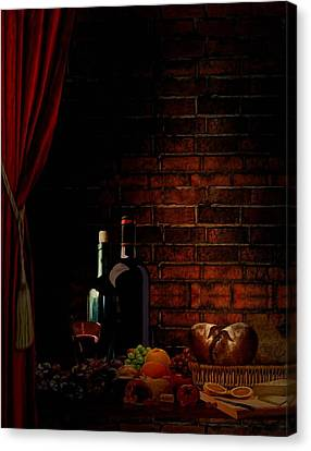 Wine Lifestyle Canvas Print by Lourry Legarde