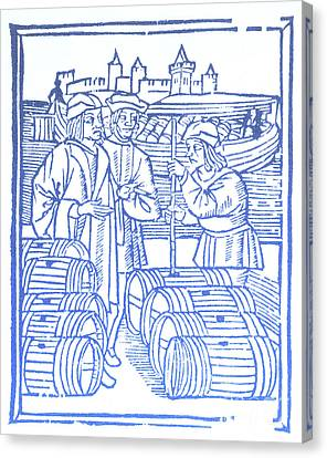 Wine Merchant, Medieval Tradesmen Canvas Print by Science Source