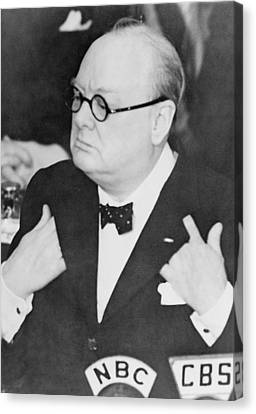 Winston Churchill 1874-1965 Canvas Print by Everett