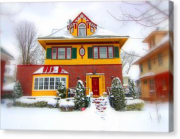 Winter In Ditmas Park Canvas Print by Mark Gilman