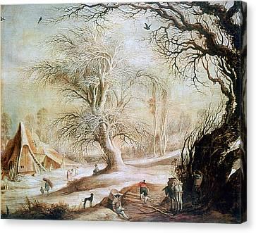 'winter Landscape', 17th Century, Painting Canvas Print by Photos.com