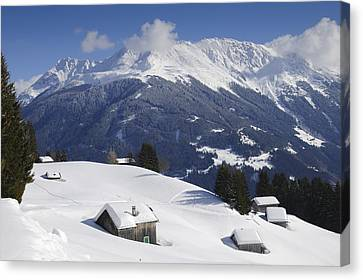 Winter Landscape In The Mountains Canvas Print by Matthias Hauser