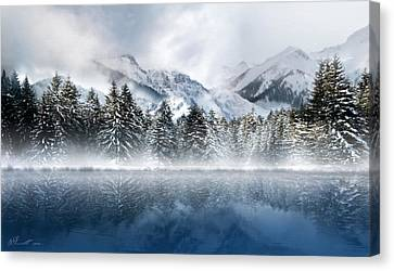 Winter Mist Canvas Print by Svetlana Sewell
