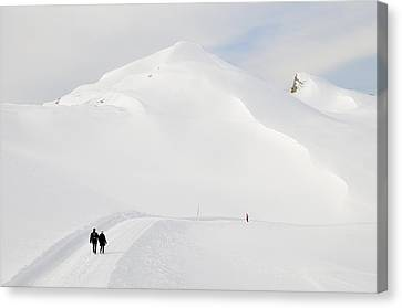 Winter Mountain Landscape With Lots Of Snow Canvas Print by Matthias Hauser