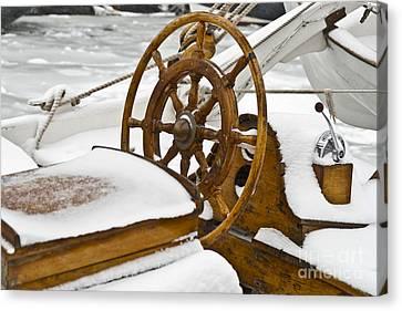 Winter On Board Canvas Print by Heiko Koehrer-Wagner