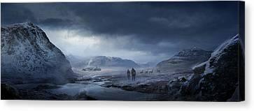 Winter Canvas Print by Philip Straub