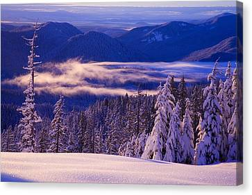 Winter Snow, Cascade Range, Oregon, Usa Canvas Print by Craig Tuttle