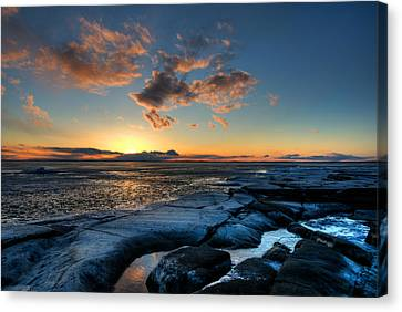 Winter Sunset Canvas Print by Micael  Carlsson