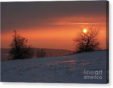 Winter Sunset Canvas Print by Michal Boubin