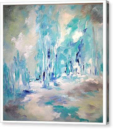 Winter Symphony Canvas Print by Sue Prideaux