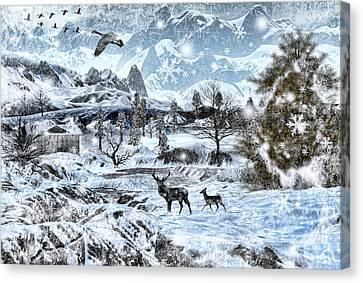 Winter Wonderland Canvas Print by Lourry Legarde