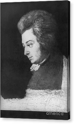 Wolfgang Amadeus Mozart, Austrian Canvas Print by Omikron