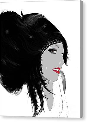 Woman 9 Canvas Print by Cheryl Young